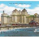 Atlantic City NJ Hotel Traymore Bathers Beach Vintage E C Kropp Linen Postcard