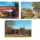 3 Vermont Covered Bridges Bennington Chiselville Pittsford Vintage Postcards