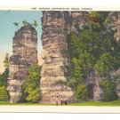 VA Mt Solon Natural Chimneys Stone Towers Vintage Linen Postcard