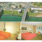 Grants Pass Oregon Riverside Motel and Restaurant Vintage Multiview Postcard