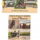 Lookout Mountain Rock City Gardens Multiview TN GA 2 Vintage Linen Postcards