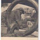 Albert Monier Photographer France Sous les Ponts de Paris Vtg Real Photo Postcard 4X6
