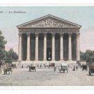 La Madeleine France Paris Vtg Postcard