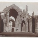 Scotland Melrose Abbey H. M. Office of Works UK Vintage Real Photo Postcard