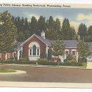 PA Wyomissing Public Library Reading Boulevard Vintage Linen Postcard