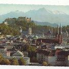 Austria Festspielstadt Salzburg Panoramic View Vintage Herndl Photo Postcard 4X6