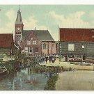 Netherlands Holland Marken Village Scene Church c 1910 Vintage Trenkler Postcard