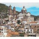Mexico Santa. Prisca Parish Taxco Birds Eye View Vtg Postcard Fematt Photo