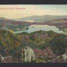Scotland Loch Vennachar Loch Achray Stirling Trossachs Vtg Valentines Postcard
