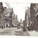 UK England Chester Eastgate Street Scene Trolley Cheshire c 1910 Vintage  Postcard