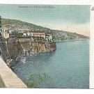 Italy Sorrento Panorama l' Hotel delle Sirene Vintage c 1905 Ragozino UDB Postcard