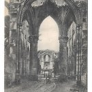 WWII France  Nordfrankreich Abbey Ruins Vintage German Postcard