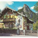 Oberammergau Germany Luftlmalerei Rotkappchenhaus Little Red Riding Hood House Postcard