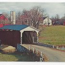 PA Covered Bridge Landis Mill Conestoga Creek Vtg Lancaster County Postcard