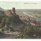 Germany Heidelberg from the Terrasse Vintage c 1910 Postcard Rischer & Kramer