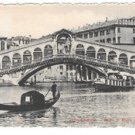 Italy Venezia Ponte di Rialto Gondola Canal Bridge Vintage Venice Postcard