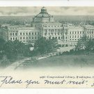 Washington DC Library of Congress 1905 Vtg UDB Postcard Philadelphia Flag Cancel