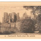 UK Kenilworth Castle From Outside The Fine Art Series Vintage Postcard Lithoraph