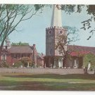 DE New Castle Delaware Immanuel Church and Old Academy Vintage 1950s Postcard