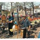 France Paris Montmartre Place du Tertre Artists Painters Vintage Postcard 4X6