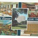 Turkey Izmir Hotel Taner Multiview Vintage 4X6 Postcard