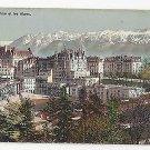 Switzerland Lausanne et la Alpes Birds eye view Vtg c 1910 Postcard Alps