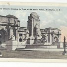 Washington DC Columbus Memorial Fountain Union Station Vintage WB Garrison Postcard