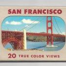 CA San Francisco 20 True Color Views Vintage EF Clements Postcards in Folder
