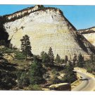 Utah Zion National Park Checkerboard Mesa Vintage Mike Roberts Scenic View Postcard