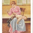 Repaired While You Wait Mother Sewing Boys Pants Humor Vintage Postcard Ca 1910