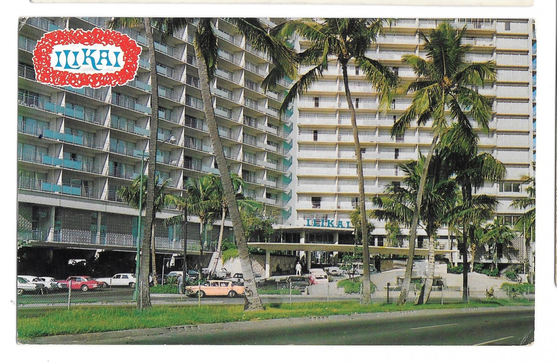 Ilikai Hotel Honolulu Hawaii Waikiki Yacht Harbor Mike Roberts Postcard 1970
