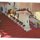 Michigan MI Grand Hotel Mackinac Island Entrance Stairs 1955 Gridley Postcard