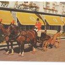 MI Michigan Grand Hotel Mackinac Island Horse Carriage Vintage 1957 Postcard
