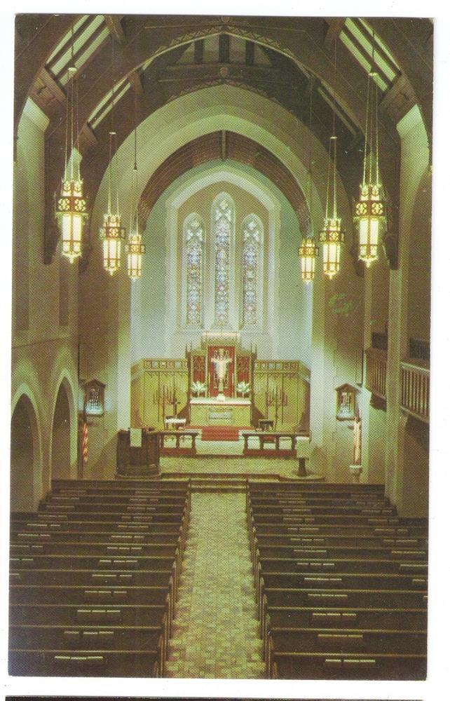 Fond du Lac WI Interior Immanuel Trinity Lutheran Church Vintage Postcard