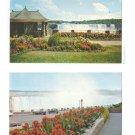 Ontario Canada Niagara Falls Horseshoe Falls Gardens Park 2 Postcards