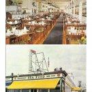 Simms Sea Food Restaurant Dual View Ocean City NJ Boardwalk Vintage Postcard