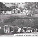 Plantation Inn and Motor Court Hwy 17 Savannah GA Motel Vintage AAA Postcard