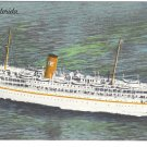 SS Florida Miami Nassau Cruise Ship P&O Steamship Co Linen Postcard