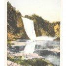 Canada Quebec Chutes Montmorency Falls Vintage Waterfall Postcard