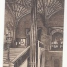 UK Great Britain Oxford Christ Church Staircase Vtg Frith's Sepia Postcard