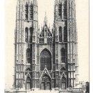 Brussels Bellgium Cathedral Sainte Gudule & Michael VintageLagaert Postcard