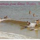 Greetings From Stone Harbor NJ Surfers Vintage Tichnor Postcard
