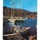 Windjammer Cruisers Sailing Boats at Anchor Maine Coastal Harbor Vintage Postcard