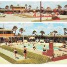 Rip Van Winkle Motel Daytona Beach FL Dual View Swimming Pool Posted 1963 Postcard