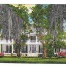 Elgin Plantation Natchez Mississippi Southern Home Spanish Moss Vintage Postcard