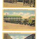 Camp Edwards Cape Cod MA Military Base 3 Vintage Postcards Anti Aircraft Guns YD Unit