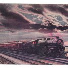 Twentieth Century LImited  Train at Dusk Lake Shore NY Central LInes Vntg Postcard