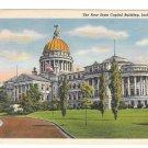 Jackson Mississippi MS New State Capitol Building Vintage Curteich Linen Postcard