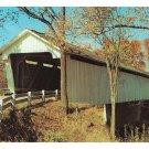 Old Covered Bridge over Sugar Creek Darlington IN Vintage Indiana Postcard