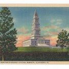 George Washington Masonic National Memorial Shooters HIll Alexandria VA Vintage Linen Postcard